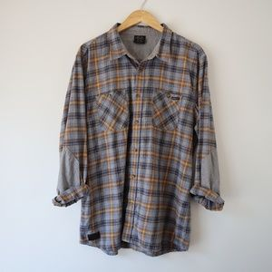 Oakley - Crisp Fall Long Sleeve Plaid Shirt XL